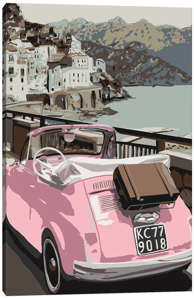 Pink Bug In Europe Canvas Art Print
