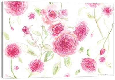 Pink Poises Canvas Art Print