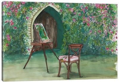 Garden Painting Canvas Art Print