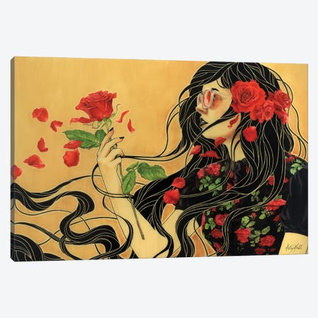 Rose Canvas Print #KML12} by Kelsey Merkle Canvas Artwork