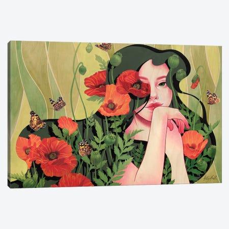Poppy Canvas Print #KML16} by Kelsey Merkle Canvas Art Print