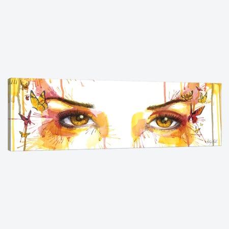 Amber Butterfly Eyes Canvas Print #KML29} by Kelsey Merkle Canvas Art Print