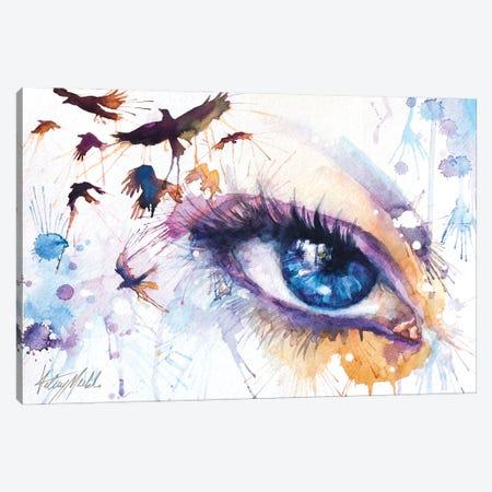 Raven Canvas Print #KML5} by Kelsey Merkle Canvas Wall Art