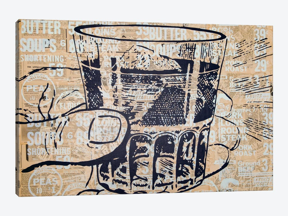 Sippin by Kyle Mosher 1-piece Canvas Art Print