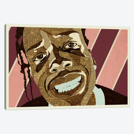 A$AP Rocky Canvas Print #KMR19} by Kyle Mosher Canvas Art