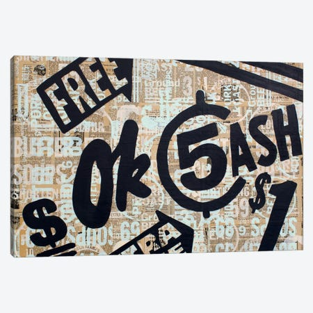 Dollar Signs Canvas Print #KMR2} by Kyle Mosher Canvas Artwork