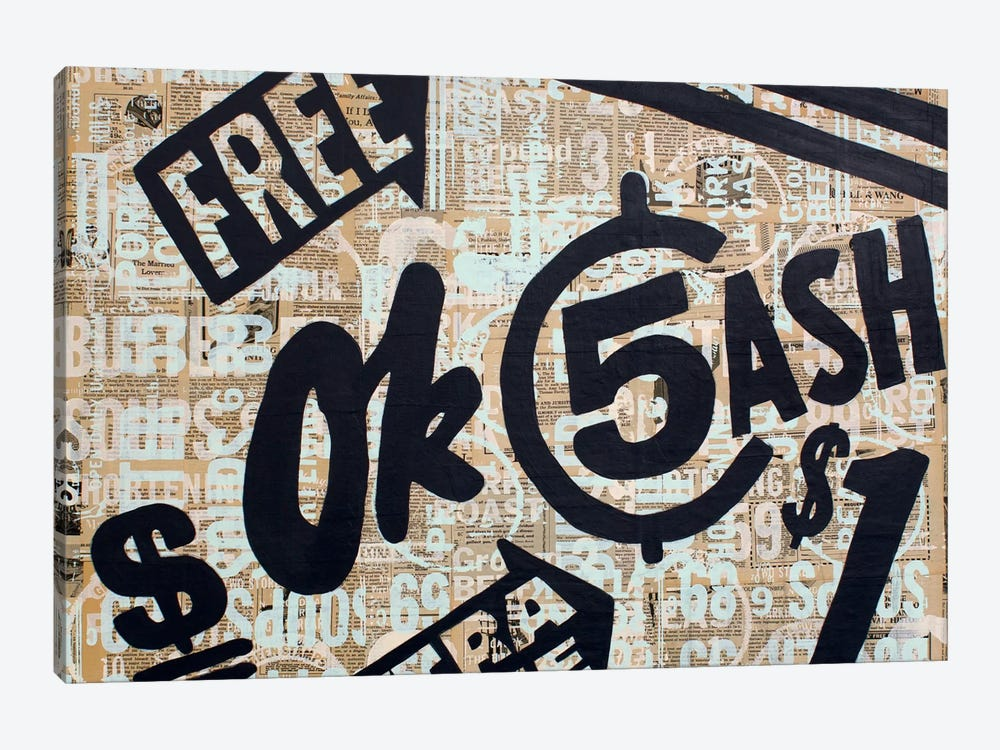 Dollar Signs by Kyle Mosher 1-piece Canvas Print