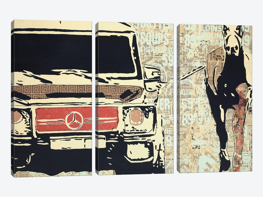 Off To The Races by Kyle Mosher 3-piece Canvas Wall Art