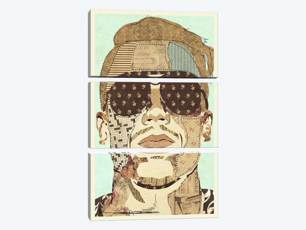 Macklemore 2015 by Kyle Mosher 3-piece Canvas Print
