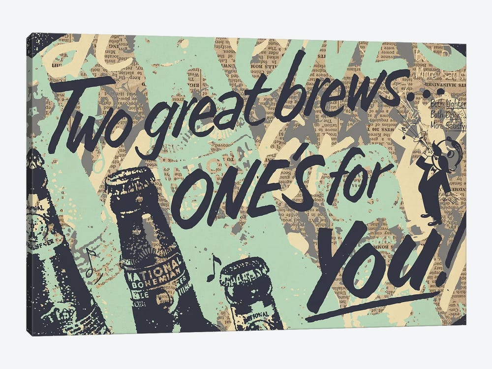 Two Brews by Kyle Mosher 1-piece Canvas Art Print