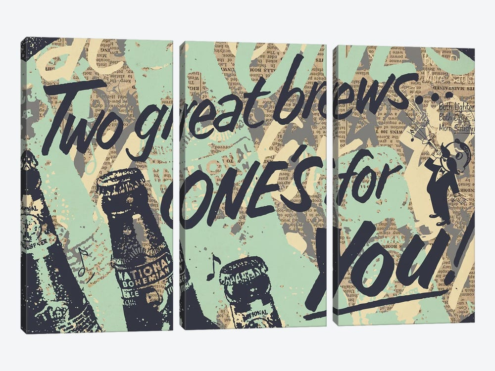 Two Brews by Kyle Mosher 3-piece Canvas Art Print