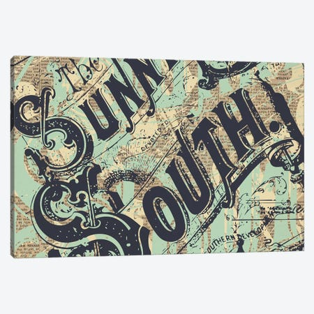 Sunny South Canvas Print #KMR39} by Kyle Mosher Canvas Art