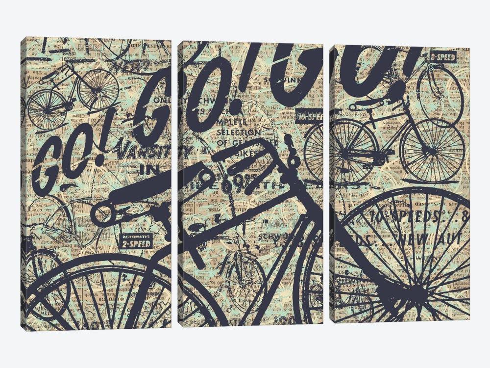 Go! Go! Go! by Kyle Mosher 3-piece Canvas Art