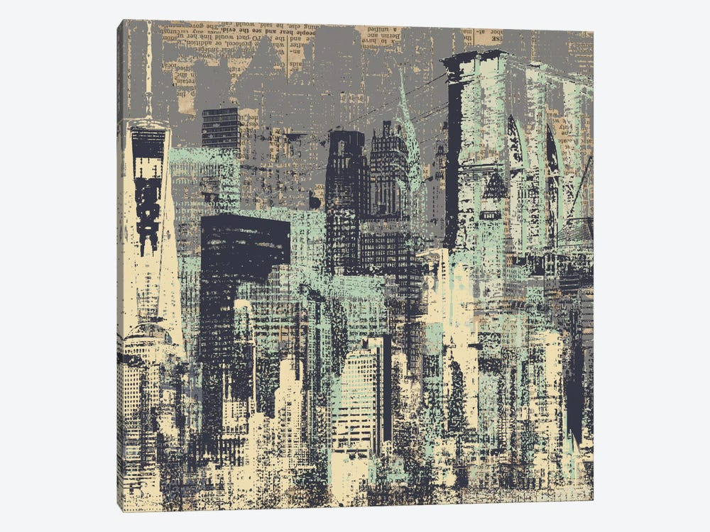 New York, New York by Kyle Mosher 1-piece Canvas Wall Art