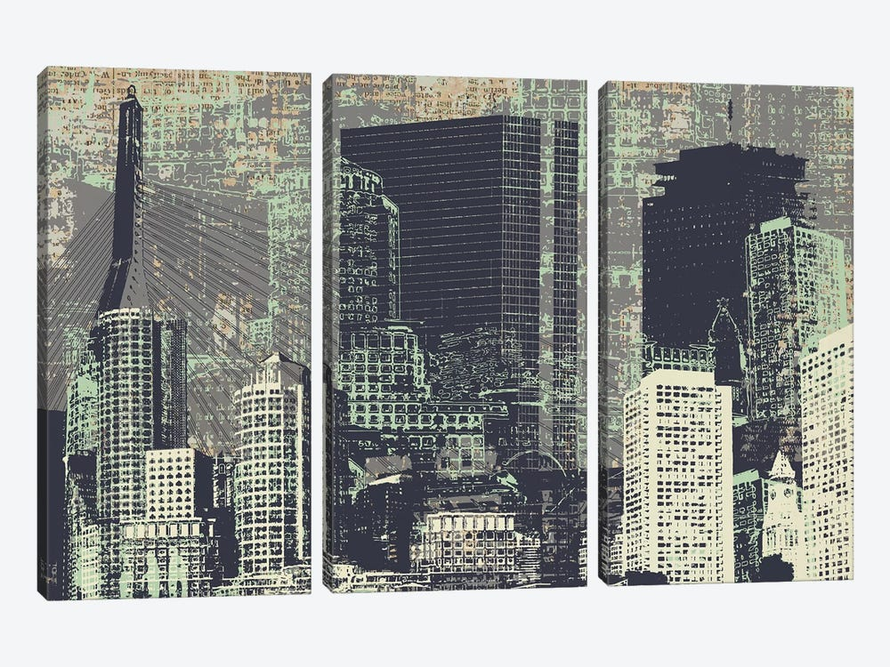 Beantown by Kyle Mosher 3-piece Canvas Print