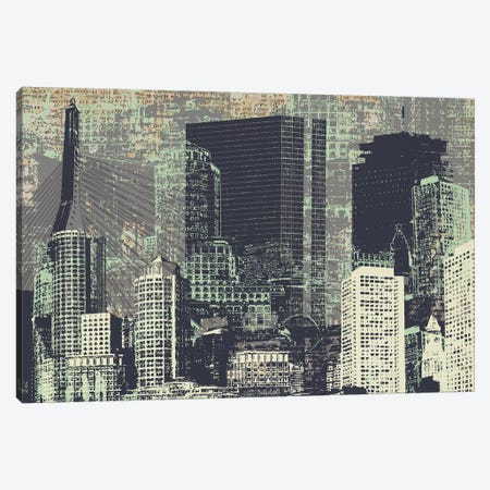 Beantown Canvas Print #KMR46} by Kyle Mosher Canvas Art