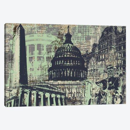 D.C. Canvas Print #KMR53} by Kyle Mosher Canvas Art