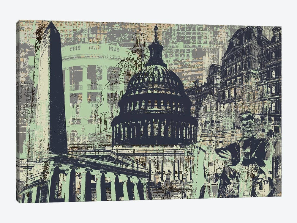 D.C. by Kyle Mosher 1-piece Canvas Art Print
