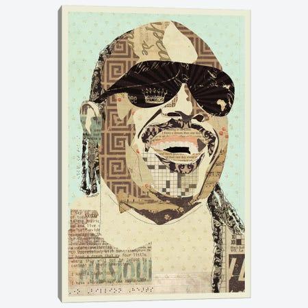 Stevie Wonder Canvas Print #KMR61} by Kyle Mosher Canvas Print