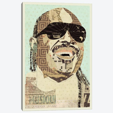 Stevie Wonder Canvas Print #KMR61} by Kyle Mosher Canvas Print