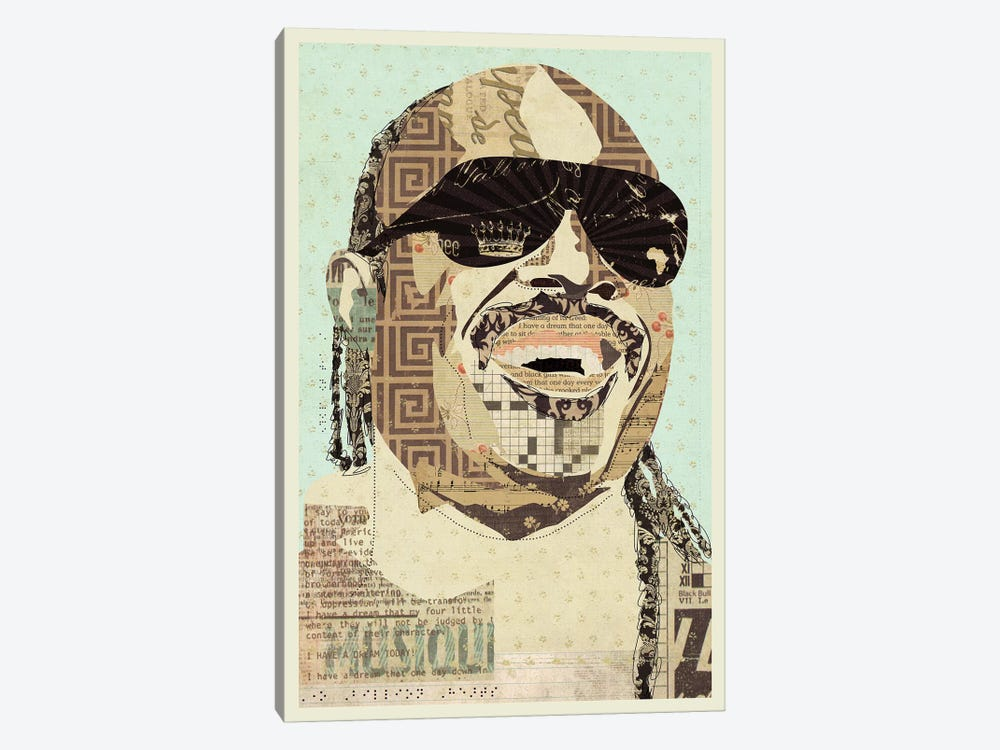 Stevie Wonder by Kyle Mosher 1-piece Canvas Wall Art