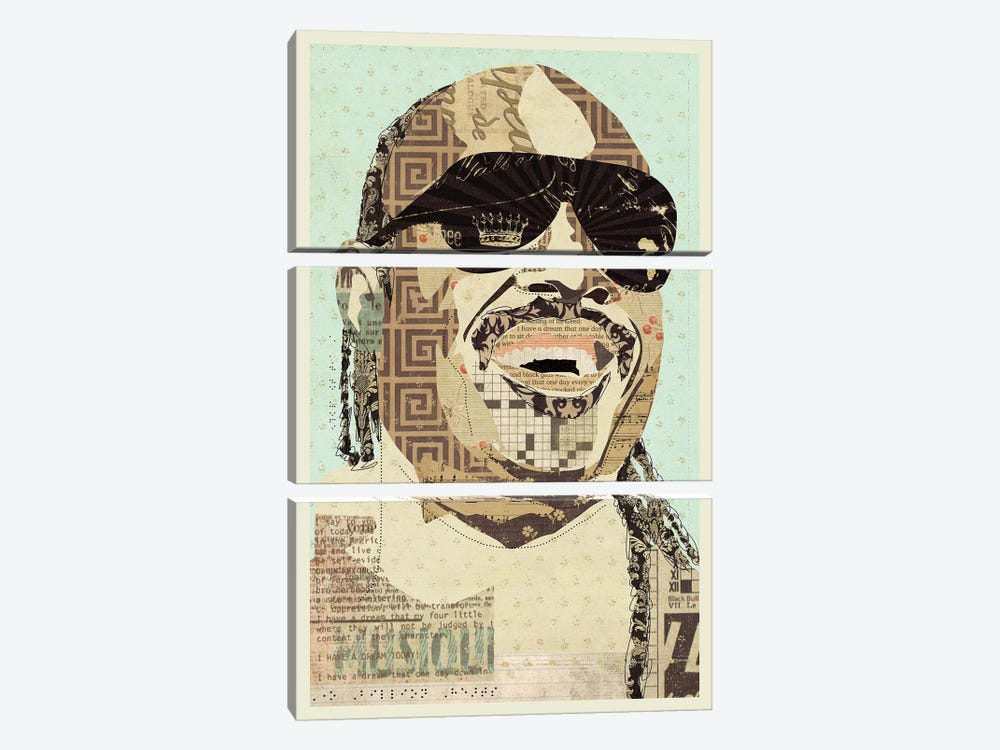 Stevie Wonder by Kyle Mosher 3-piece Canvas Art