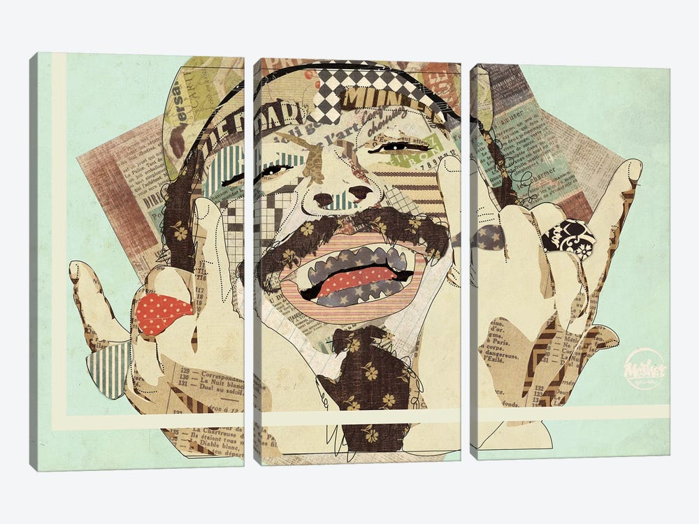 Posty by Kyle Mosher 3-piece Canvas Art Print
