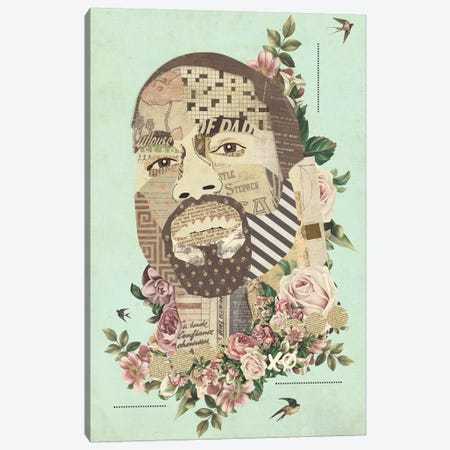 Kanye Canvas Print #KMR66} by Kyle Mosher Canvas Artwork
