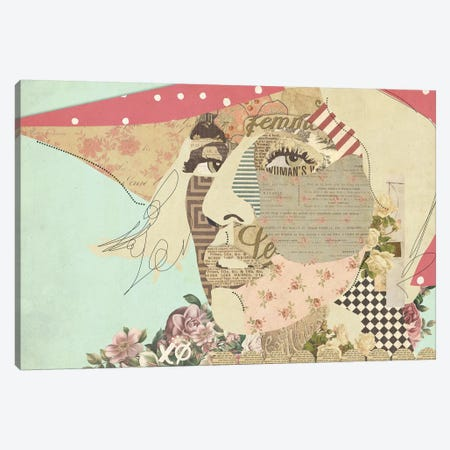 Lady Gaga Canvas Print #KMR67} by Kyle Mosher Canvas Artwork