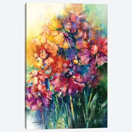 Floral Jubilee II Canvas Print #KMS10} by Kathy Morton Stanion Canvas Print