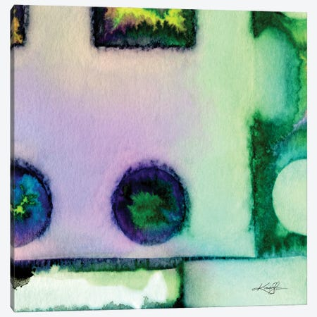Abstract Harmony VIII Canvas Print #KMS118} by Kathy Morton Stanion Canvas Artwork