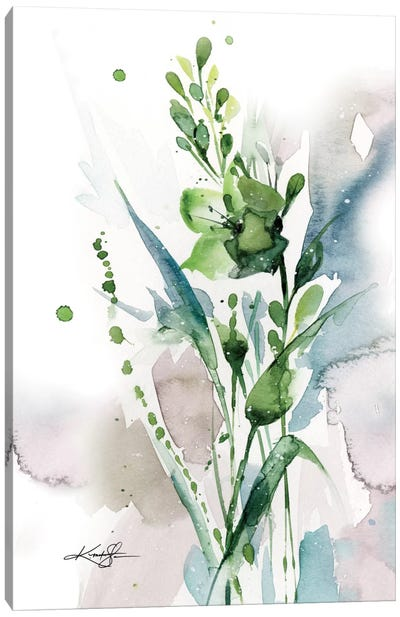 Green Bliss I Canvas Print #KMS11