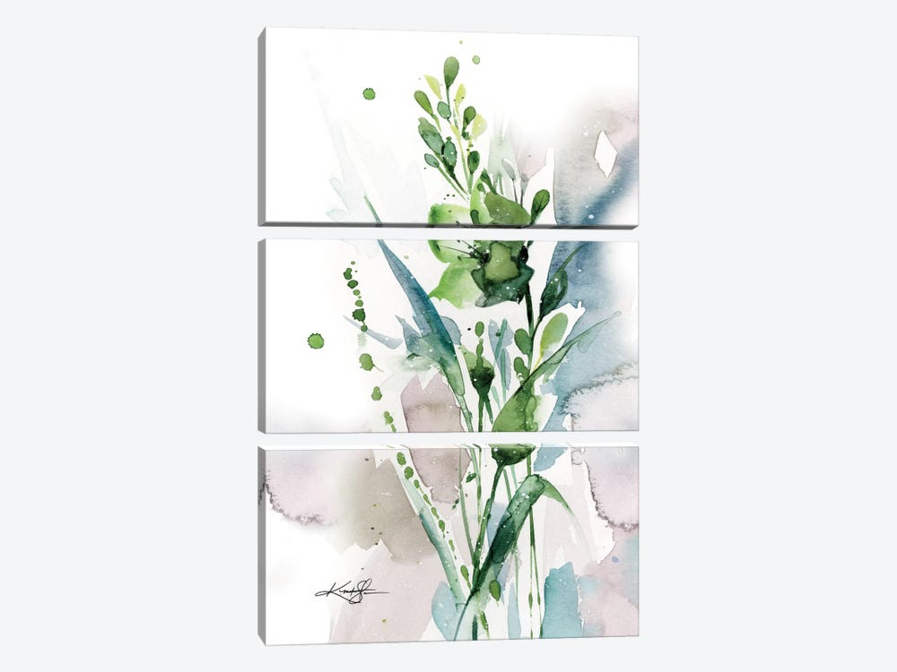 Green Bliss I 3-piece Canvas Wall Art