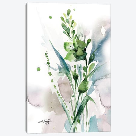 Green Bliss I Canvas Print #KMS11} by Kathy Morton Stanion Art Print