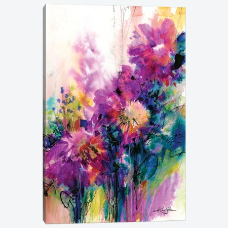 Dancing Among The Blooms Canvas Print #KMS121} by Kathy Morton Stanion Canvas Print