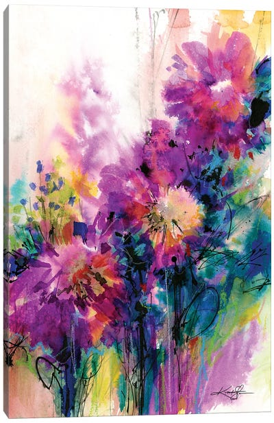 Dancing Among The Blooms Canvas Art Print