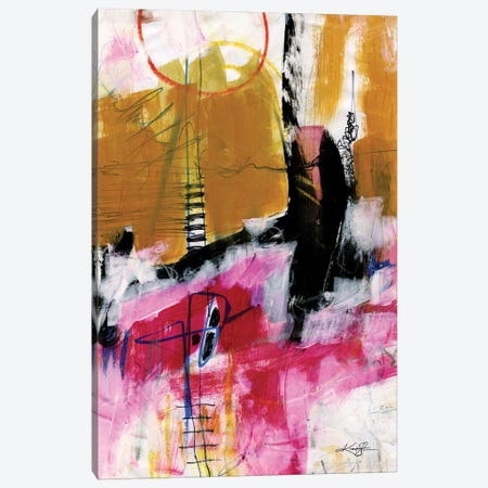 Abstract Composition XIV Canvas Print #KMS130} by Kathy Morton Stanion Canvas Wall Art