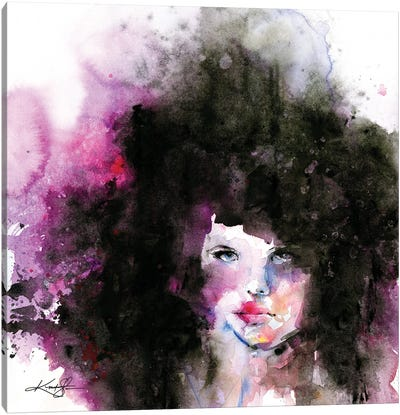 Big Hair II Canvas Art Print
