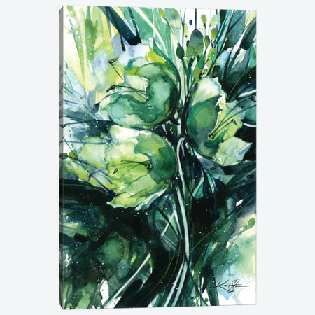 Green Bliss III Canvas Print #KMS13} by Kathy Morton Stanion Canvas Art Print