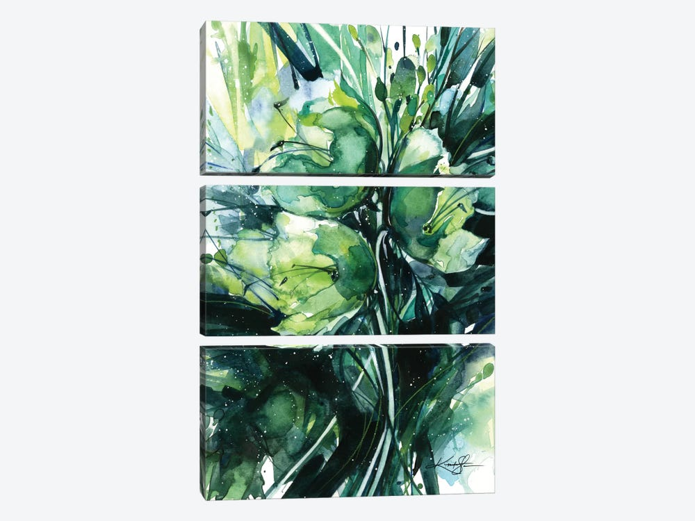 Green Bliss III by Kathy Morton Stanion 3-piece Canvas Wall Art