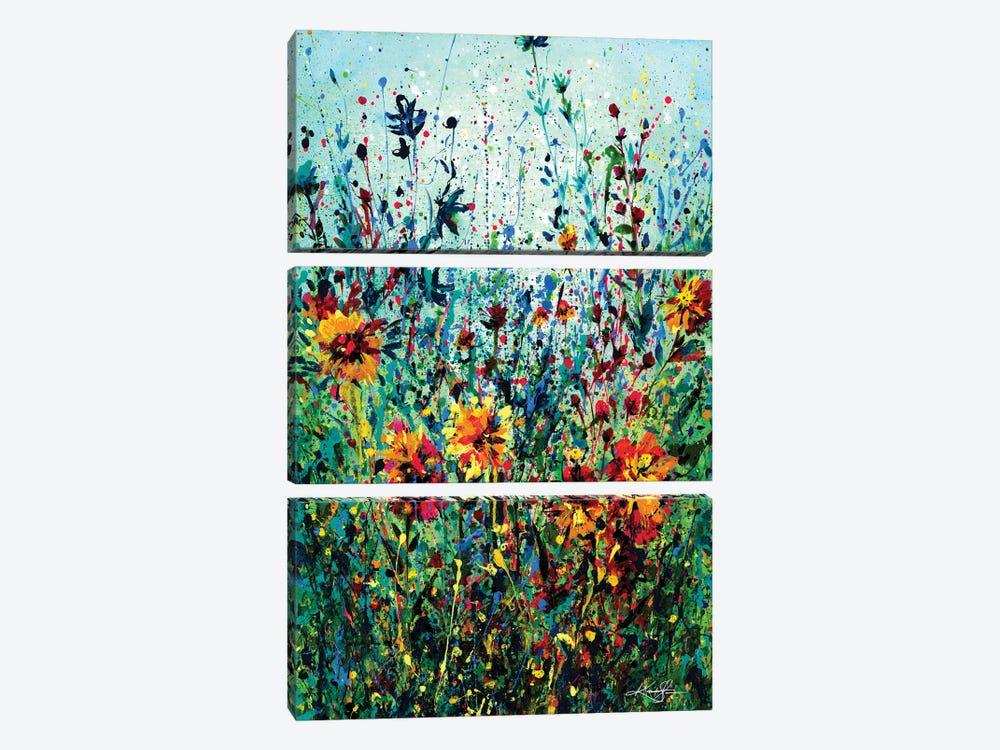 Floral Dream IV by Kathy Morton Stanion 3-piece Canvas Artwork