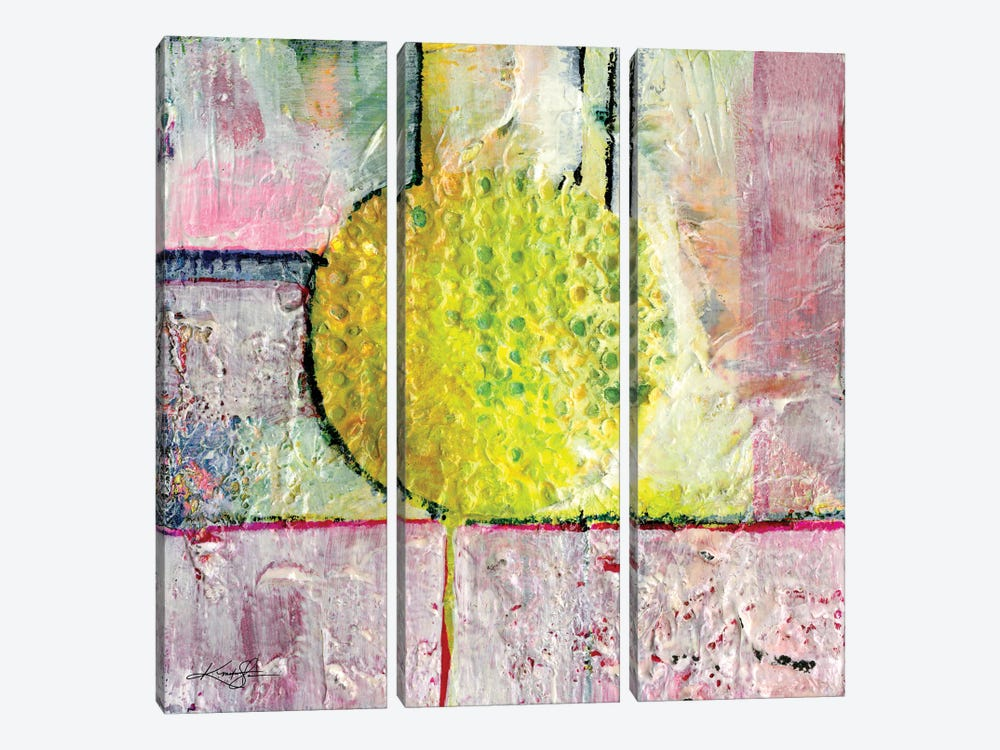 Abstraction I by Kathy Morton Stanion 3-piece Canvas Art Print