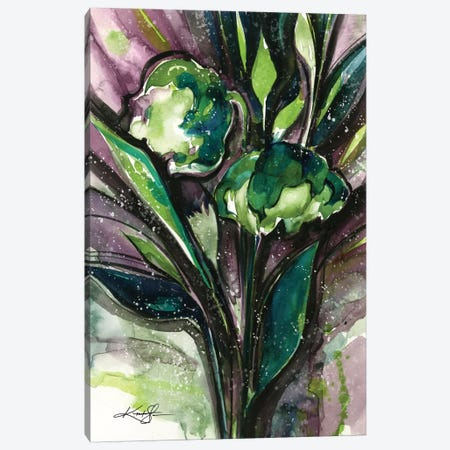 Green Bliss IV Canvas Print #KMS14} by Kathy Morton Stanion Canvas Art