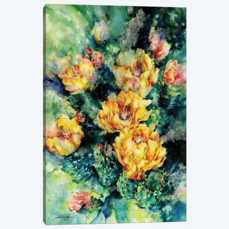 Prickly Pear Canvas Print #KMS150} by Kathy Morton Stanion Canvas Art
