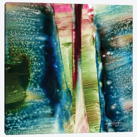 Encaustic Abstract XXIX Canvas Print #KMS151} by Kathy Morton Stanion Canvas Wall Art