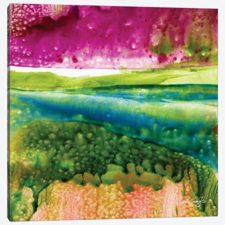 Encaustic Abstract XXII Canvas Print #KMS153} by Kathy Morton Stanion Canvas Wall Art