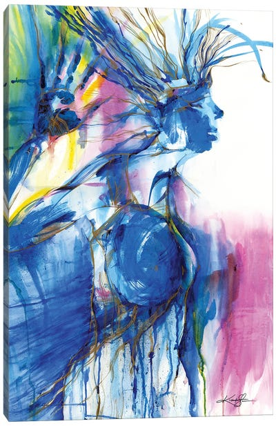 Blue Woman Canvas Art Print