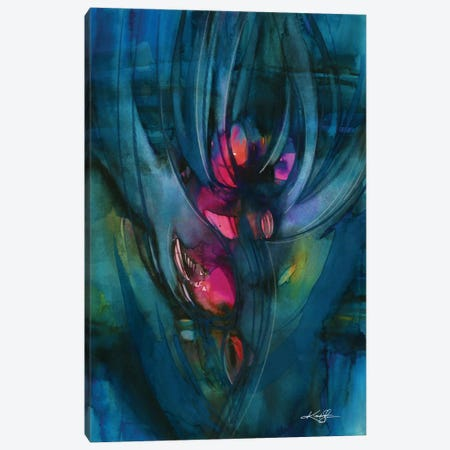Mystery Bloom Canvas Print #KMS15} by Kathy Morton Stanion Canvas Wall Art