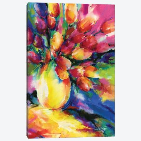 Tulips Canvas Print #KMS163} by Kathy Morton Stanion Art Print