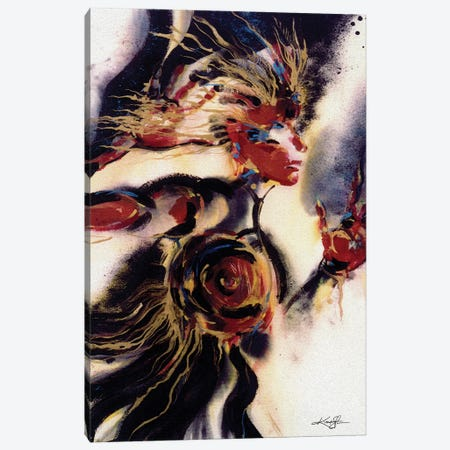 Warrior Woman Canvas Print #KMS164} by Kathy Morton Stanion Canvas Wall Art